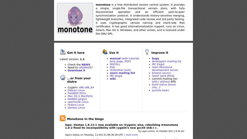 monotone Landing Page