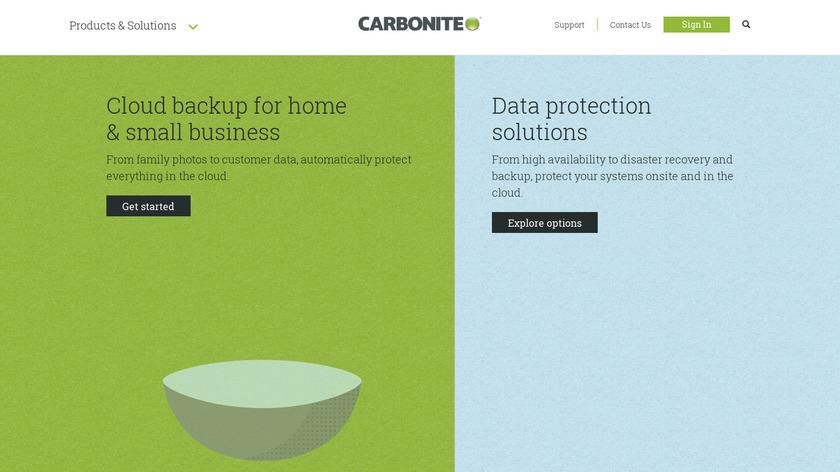 Carbonite Landing Page