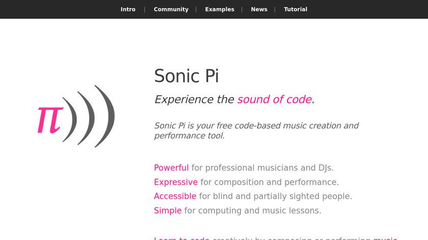 Sonic Pi Landing Page