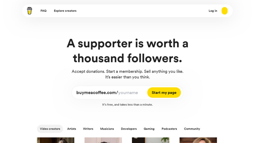 Buy Me A Coffee Landing Page