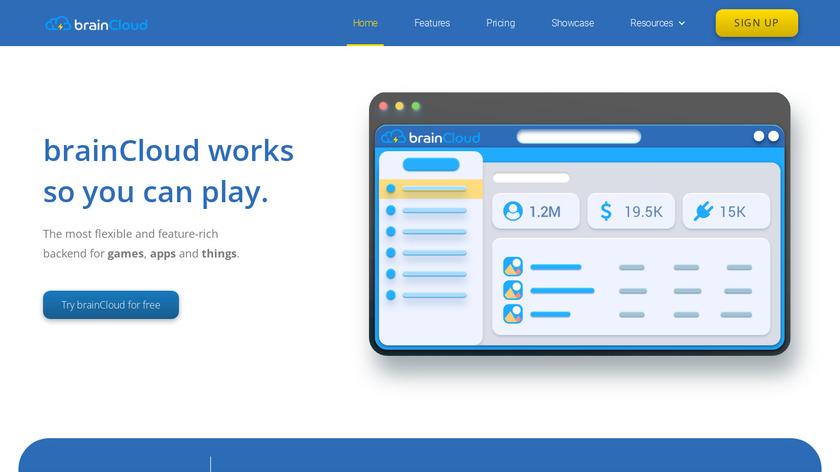 brainCloud Landing Page