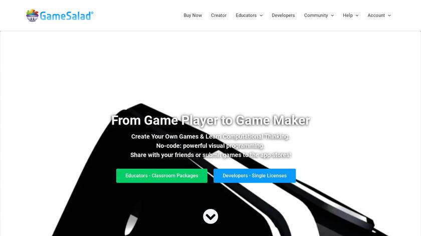 Gamesalad Landing Page
