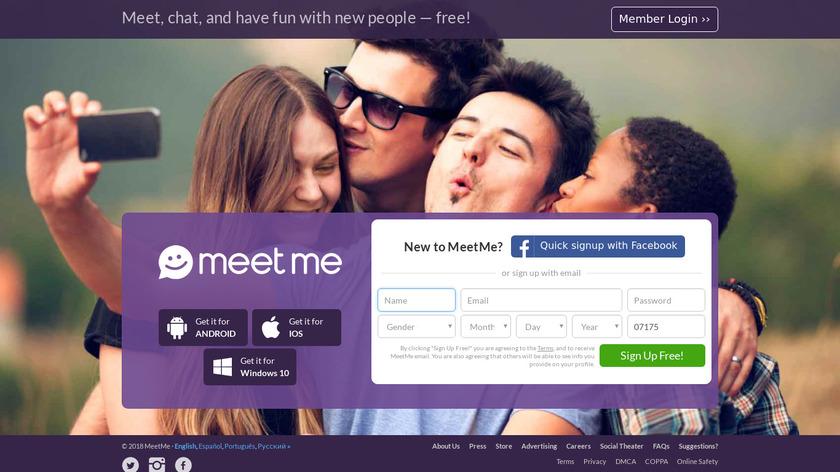 MeetMe Landing Page