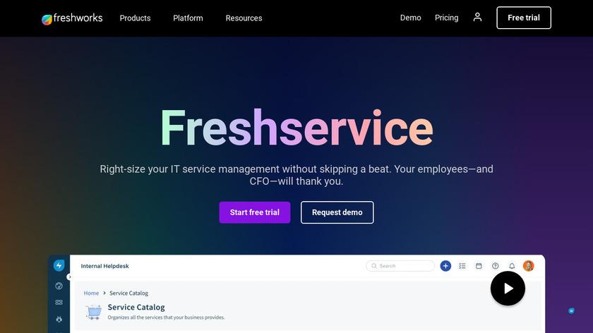 Freshservice Landing Page