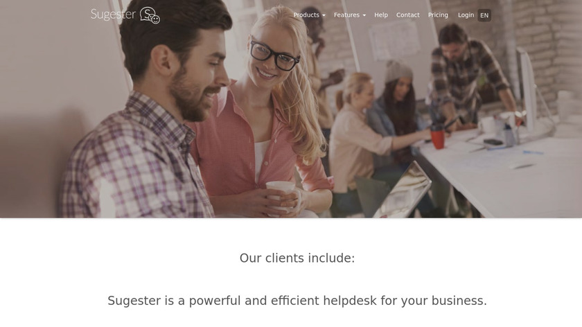 Sugester Landing Page
