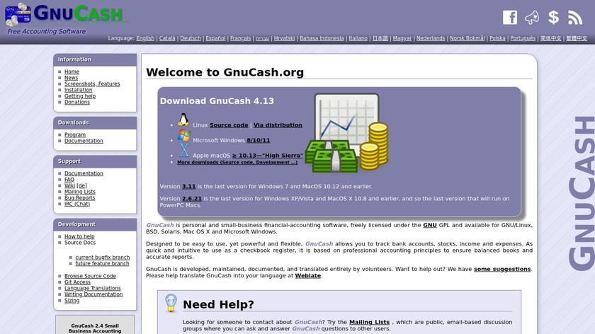 GnuCash Landing Page