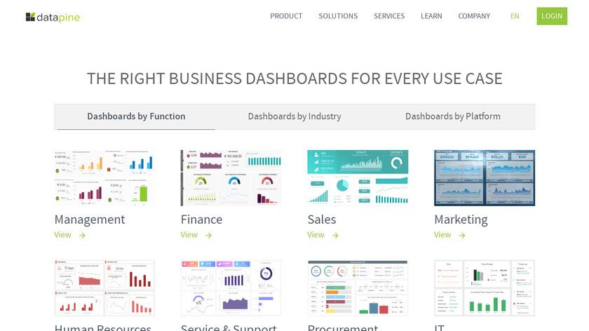 datapine Landing Page