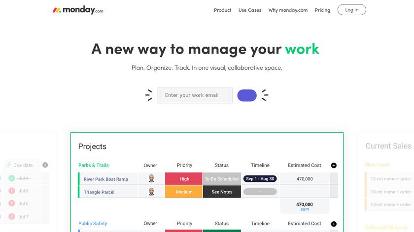 monday.com Landing Page