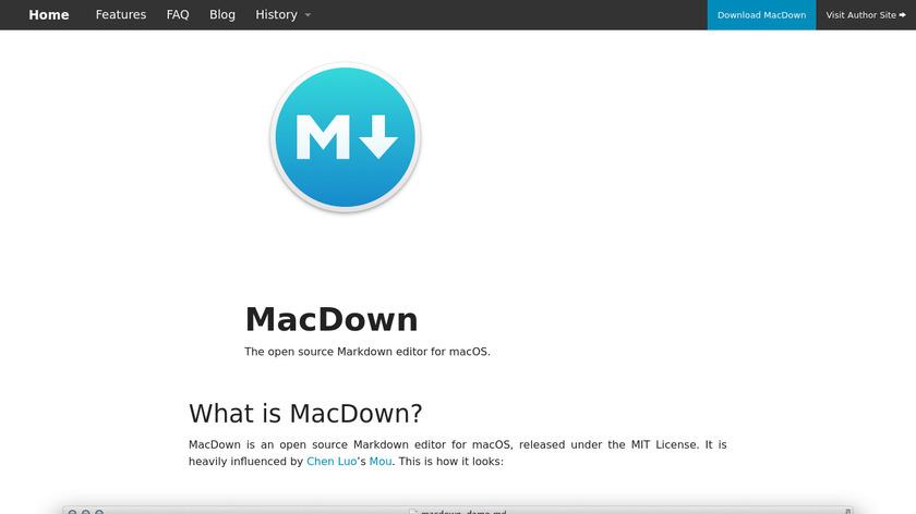 MacDown Landing Page