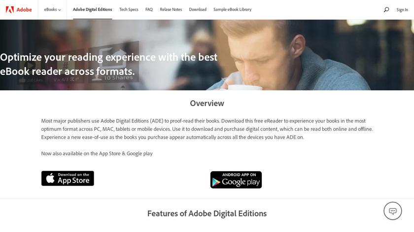 Adobe Digital Editions Landing Page