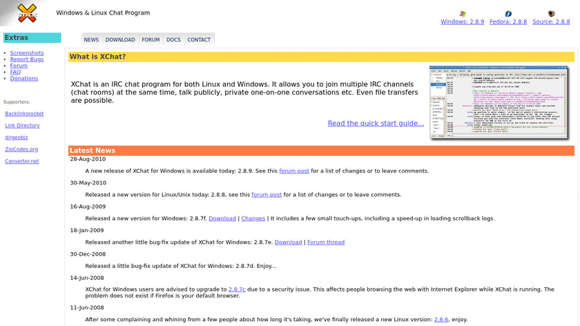 XChat for Linux Landing Page