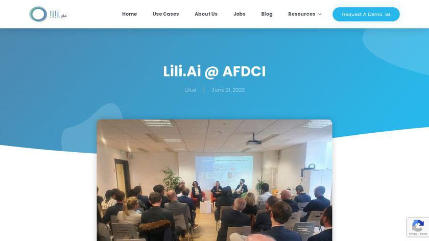 Lili.ai Landing Page