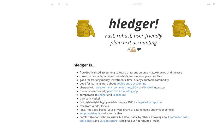 hledger Landing Page
