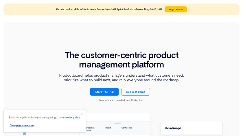 productboard Landing Page