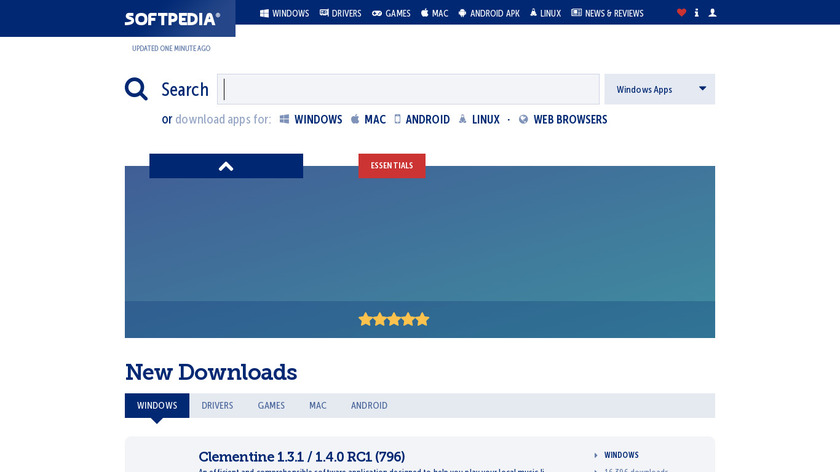 Softpedia Landing Page