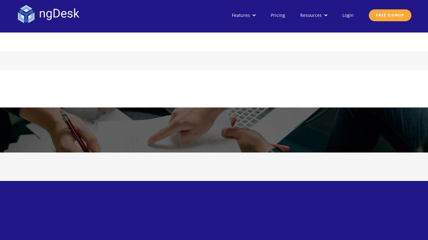 ngDesk Landing Page