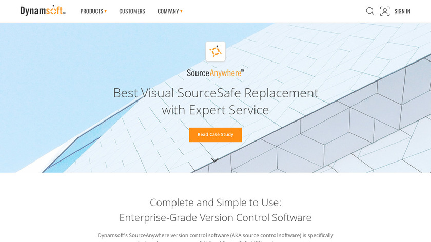 SourceAnywhere Landing Page