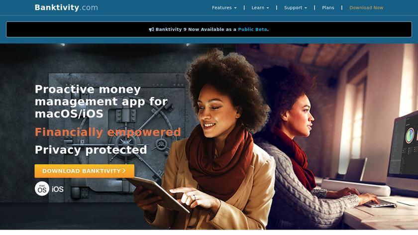 Banktivity Landing Page