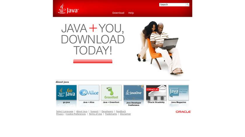Java Landing Page