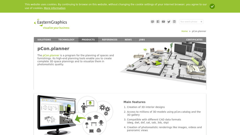 pCon.planner Landing Page