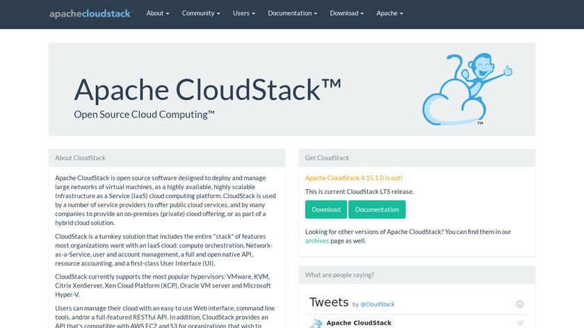 CloudStack Landing Page