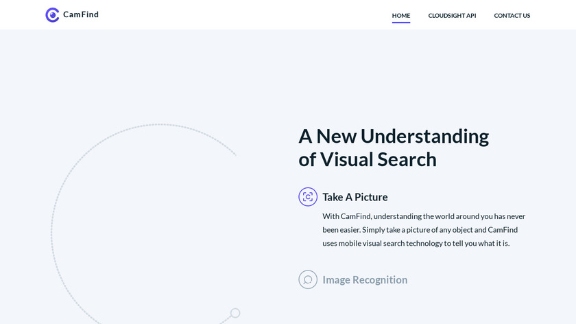 CamFind Landing Page