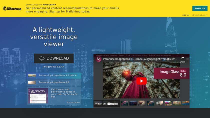 ImageGlass Landing Page