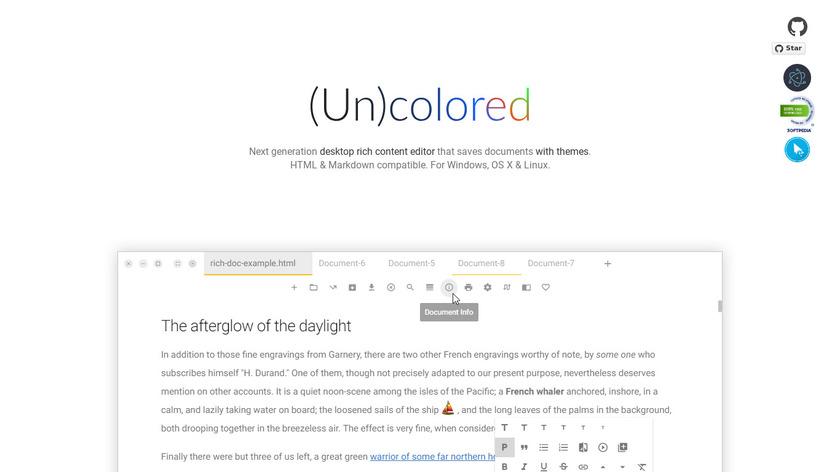(Un)colored Landing Page