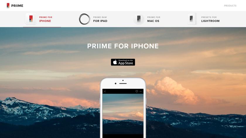 Priime Landing Page