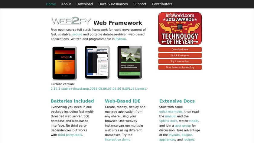 web2py Landing Page