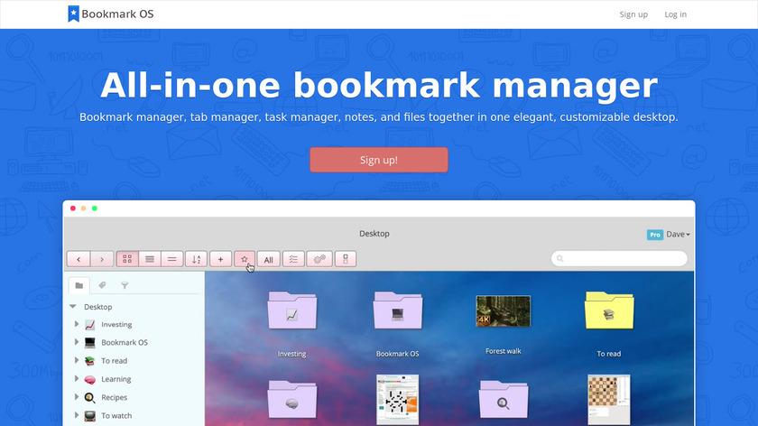 Bookmark OS Landing Page