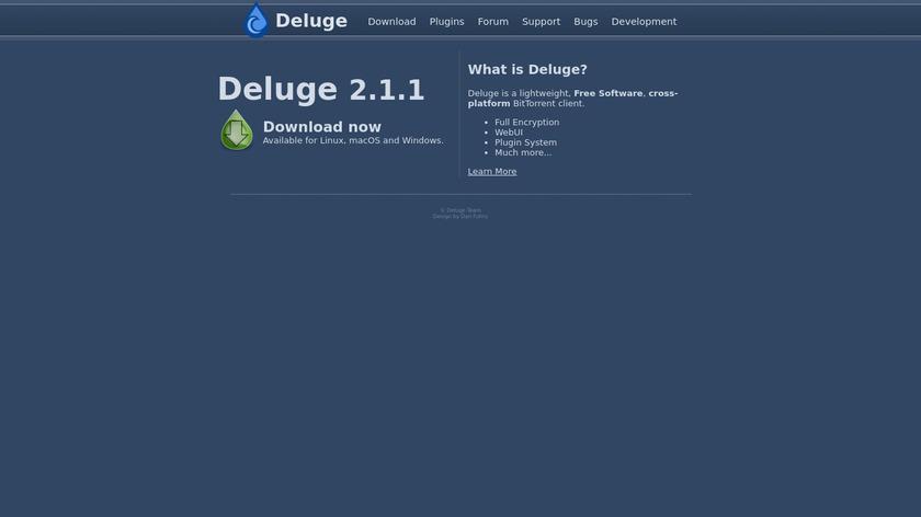 Deluge Landing Page