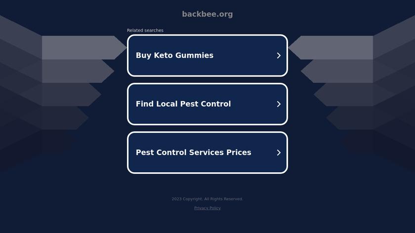 BackBee CMS Landing Page