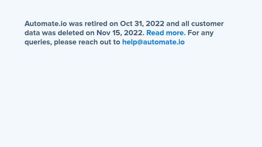 Automate.io Landing Page