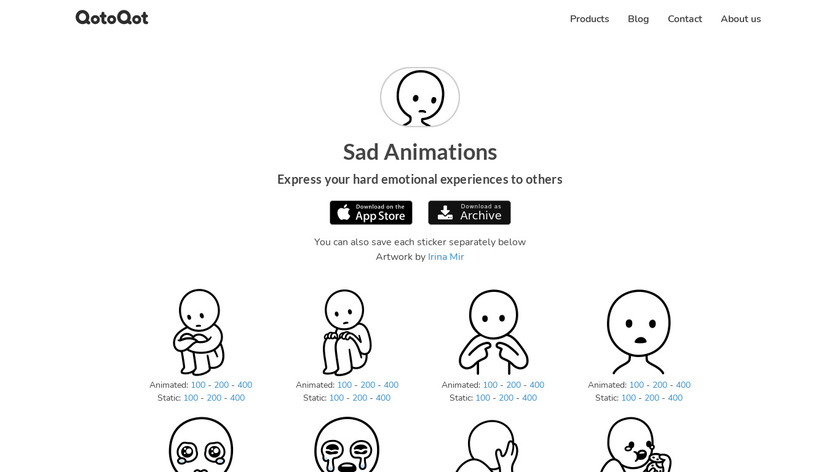 Sad Animations Landing Page