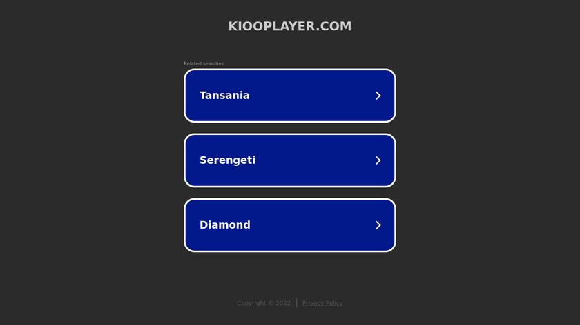 Kioo Media Player Landing Page