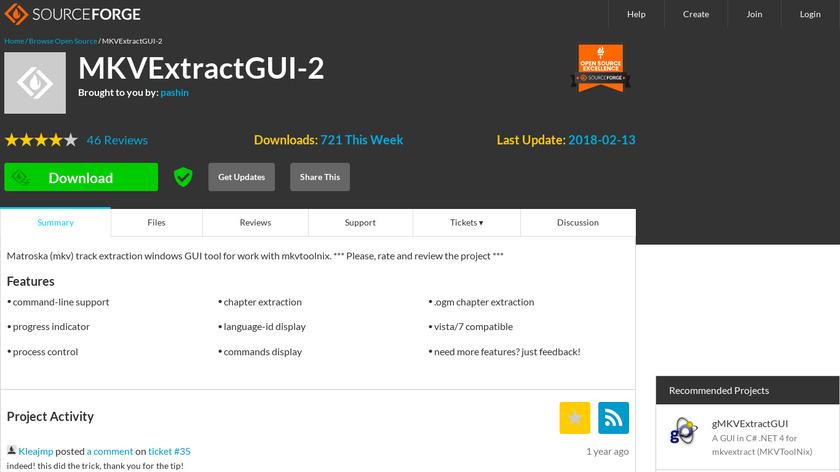 MKVExtractGUI Landing Page