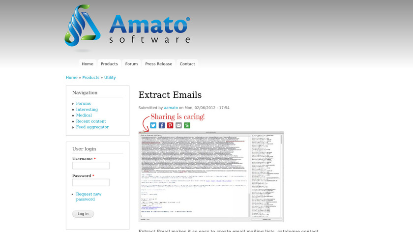 Extract Emails Landing Page