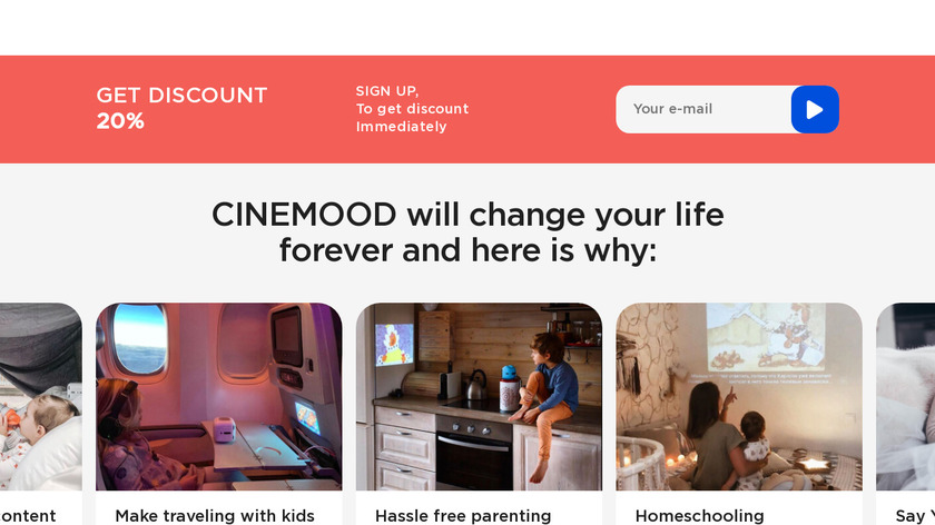 CINEMOOD Storyteller Landing Page