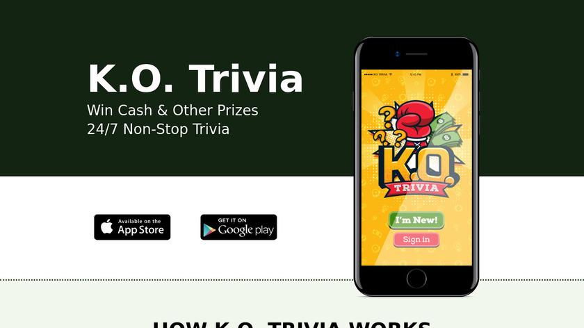 KO Trivia Landing Page