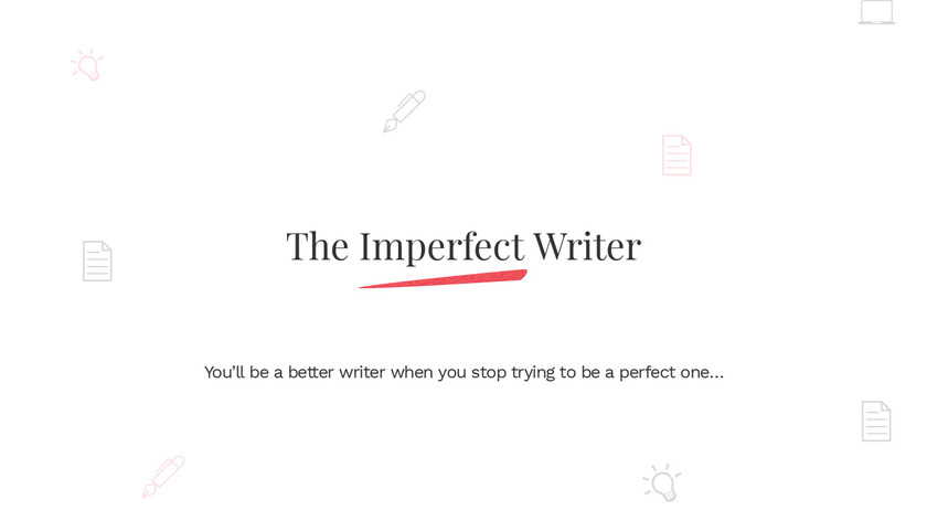 The Imperfect Writer Landing Page