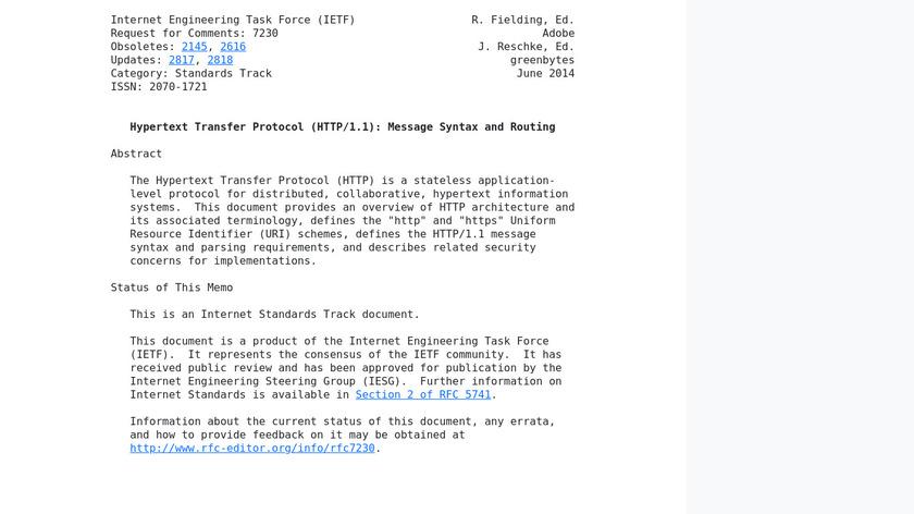 HTTP Landing Page