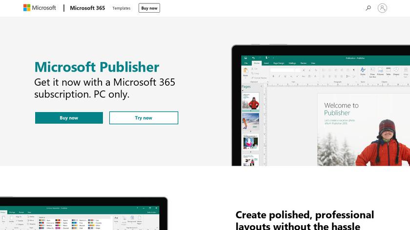 Microsoft Publisher Landing Page