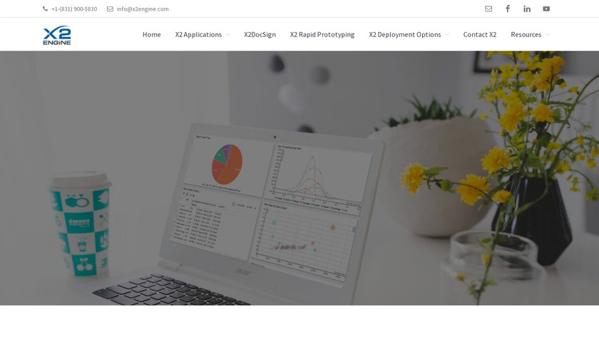 X2CRM Landing Page