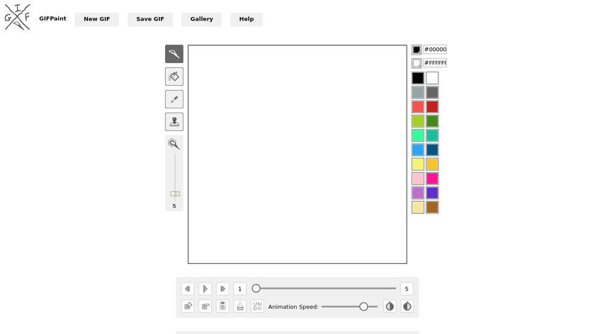 GIF Paint Landing Page