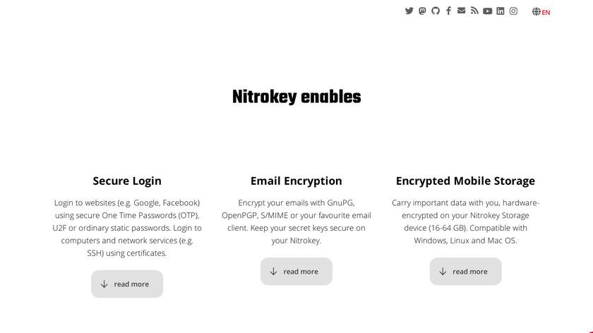 Nitrokey Landing Page