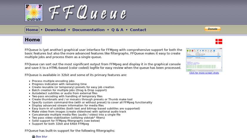 FFQueue Landing Page