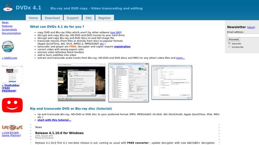 DVDx Landing Page