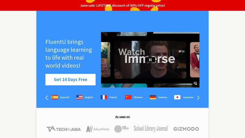 FluentU Landing Page