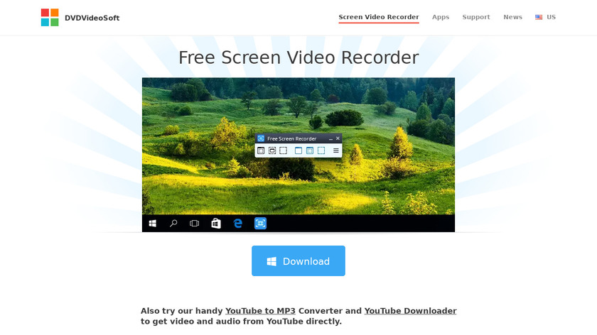 Free Screen Video Recorder Landing Page